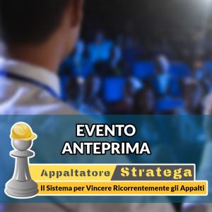 "Evento ""Anteprima Appaltatore Stratega"" 05/03/2021"