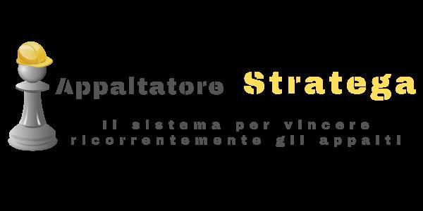 Logo Appaltatore Stratega Orizzontale